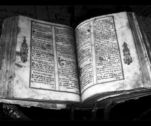 black and white, open, and book image