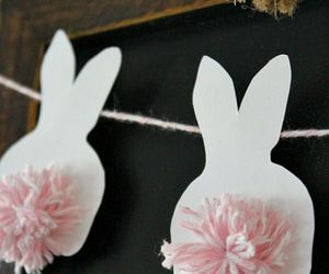 banner, bunny, and diy image
