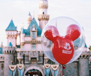 balloon, castle, and celebrate image