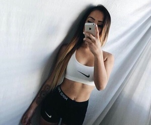 nike, girl, and fitness image