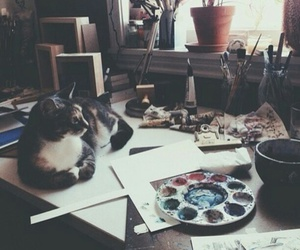 artist, creative, and cat image