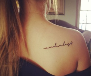 tatto, tattoo, and wanderlust image