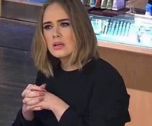 meme, Adele, and reaction image