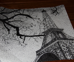 paris, black and white, and art image