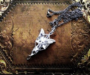 elf, lord of the rings, and necklace image