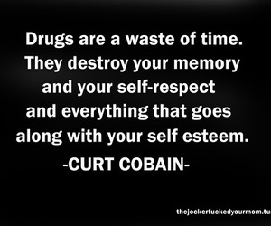 drugs and curt cobain image
