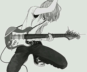 anime, guitar, and boy image