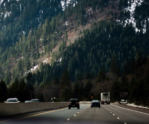 mountains, travel, and road image