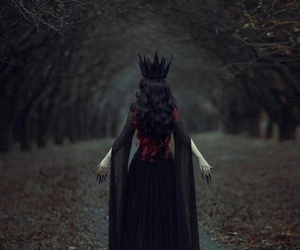 dark, Queen, and black image