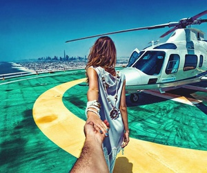 couple, follow me, and Dubai image