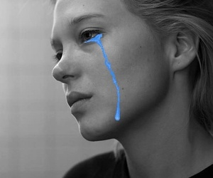 Lea Seydoux, cry, and sad image
