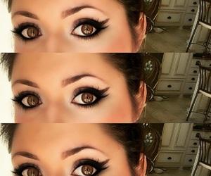 beauty, eye makeup, and brown eyes image