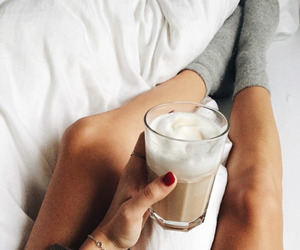 coffee, bed, and socks image
