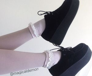 creepers, pastel goth, and shoes image
