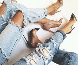 denim, look, and fashion image
