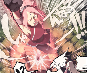 anime, sakura haruno, and ino image