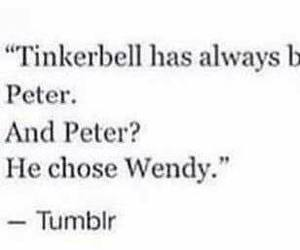 tinkerbell, wendy, and tumblr image