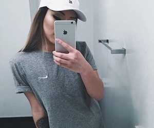 girl, nike, and iphone image
