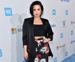 demi lovato, beauty, and we day image