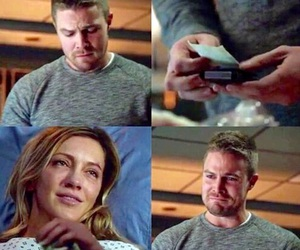 arrow, oliver queen, and laurel lance image