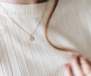 necklace, hair, and white image