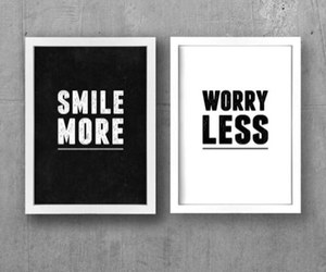 smile, quotes, and worry image