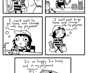 funny, comic, and pajamas image