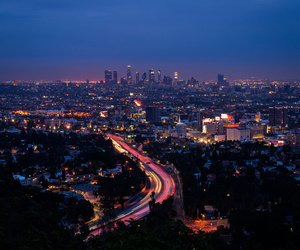 Angeles, LAX, and light trails image