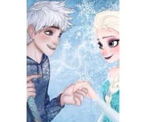 jack frost, jelsa, and frozen image