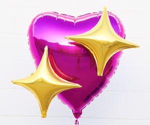 pink, heart, and balloons image