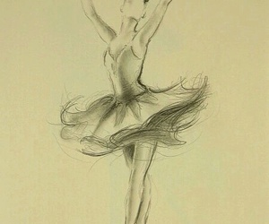 dance, drawing, and ballerina image