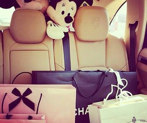 chanel, car, and shopping image
