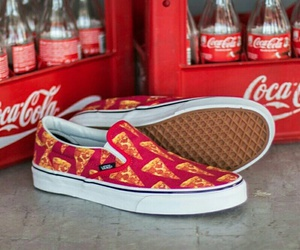 vans, pizza, and shoes image
