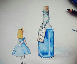 alice, blue, and cartoon image