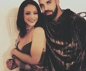 Drake, rihanna, and work image
