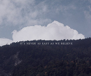 clouds, text, and nature image