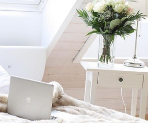 home, interior, and macbook image