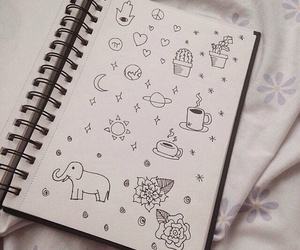 doodle, journal, and notebook image