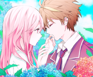 couple, guilty crown, and anime image