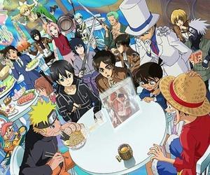 conan, naruto, and anime image