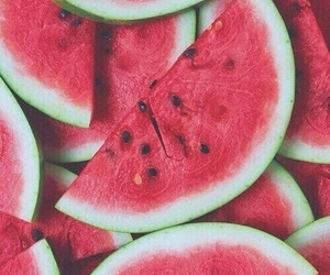 fruit, watermelon, and love image