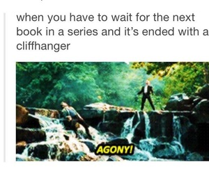 agony, books, and funny image