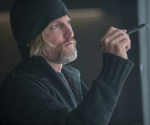 mockingjay, haymitch, and the hunger games image