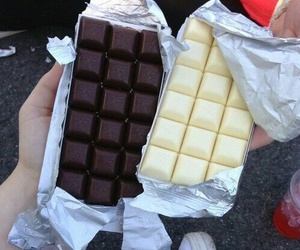 food, chocolate, and white image
