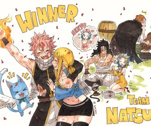 fairy tail, happy, and levy image