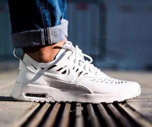 air max, style, and white sneakers image