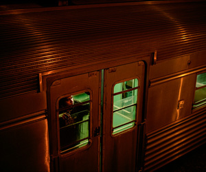 train, night, and travel image