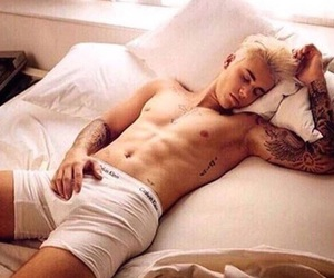 bed, sixpack, and blond image