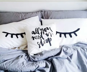 sleep, pillow, and bed image