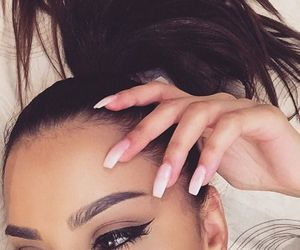 nails, beauty, and eyebrows image